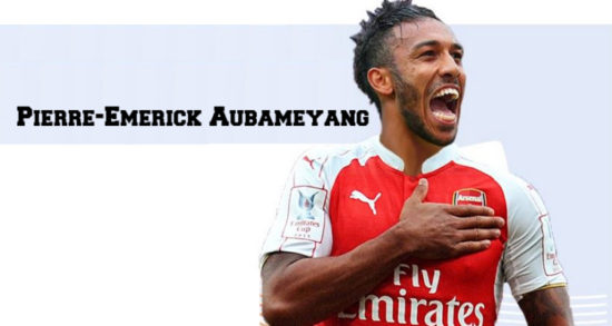 new style 4ffdc 063a1 Photo: Aubameyang looks good in Arsenal jersey if he ...